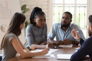 black female instructing